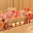 メインテーブルのお花